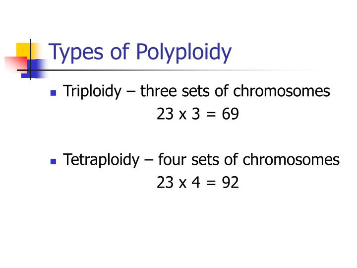 Types of Polyploidy