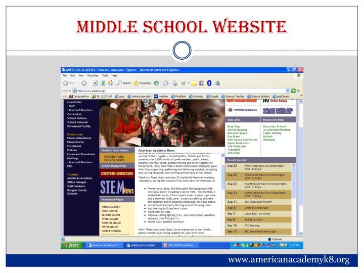 Middle school website