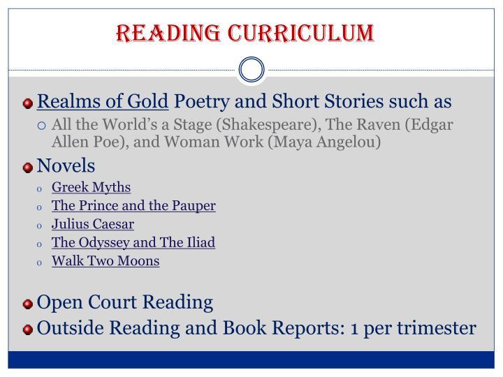 Reading Curriculum
