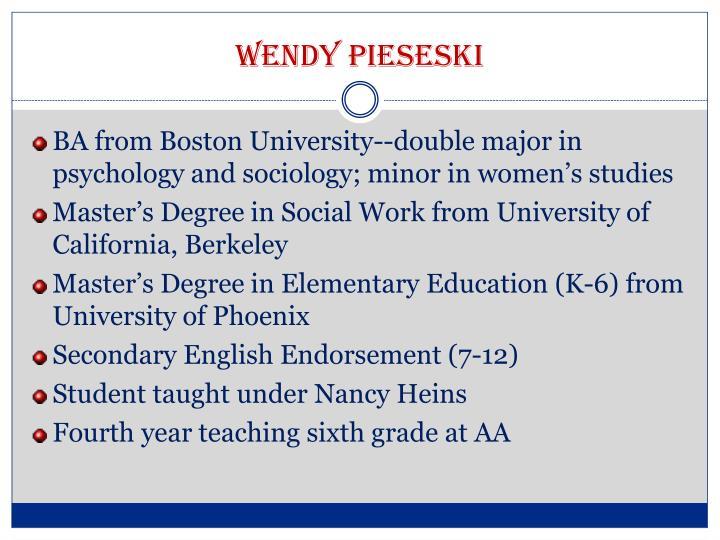 Wendy pieseski