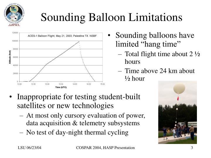 Sounding balloon limitations