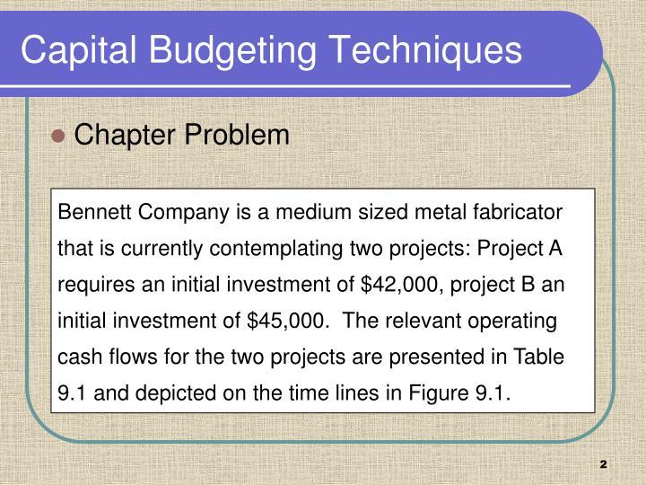 Capital budgeting techniques