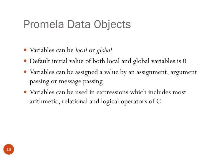 Promela Data Objects