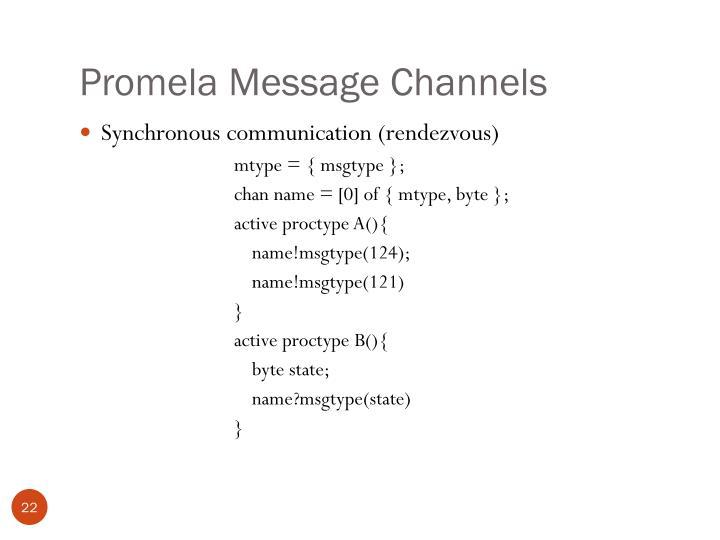 Promela Message Channels