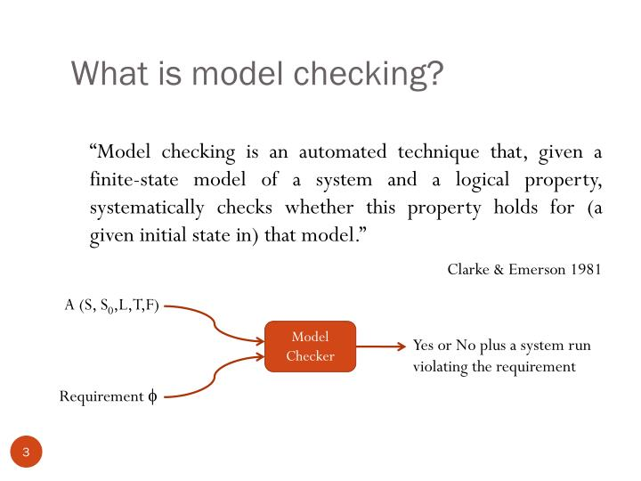 What is model checking