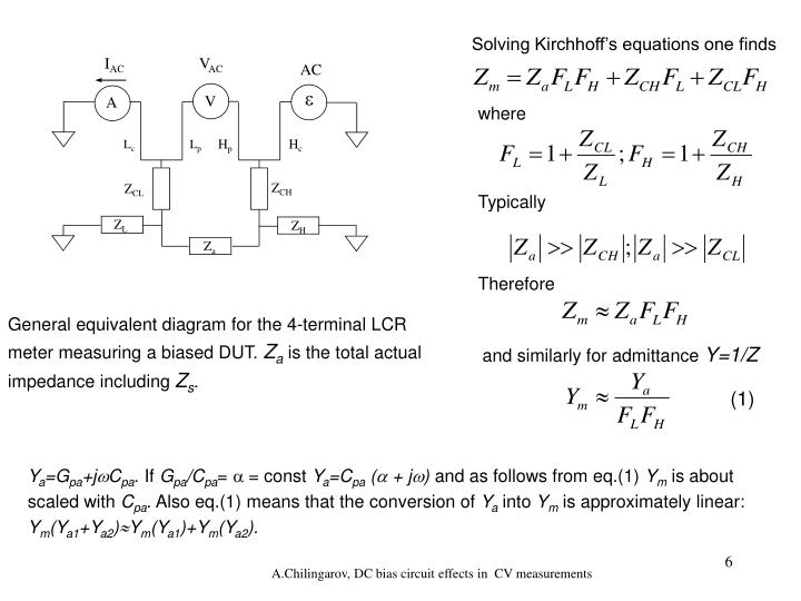 Solving Kirchhoff's equations one finds