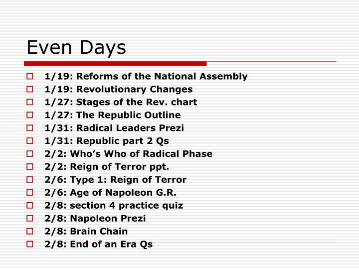 Even Days