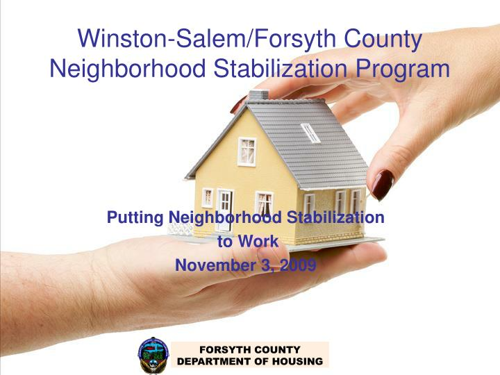 Winston salem forsyth county neighborhood stabilization program
