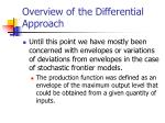 overview of the differential approach