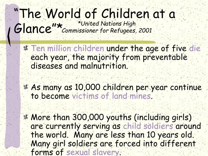 The world of children at a glance