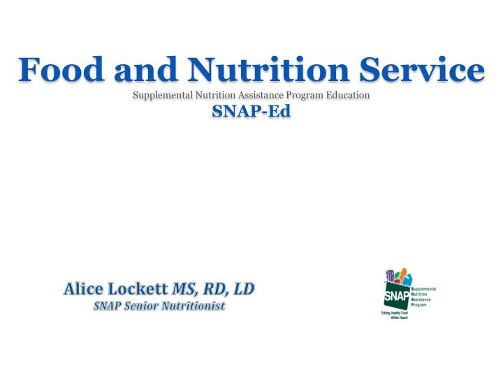Food and Nutrition Service