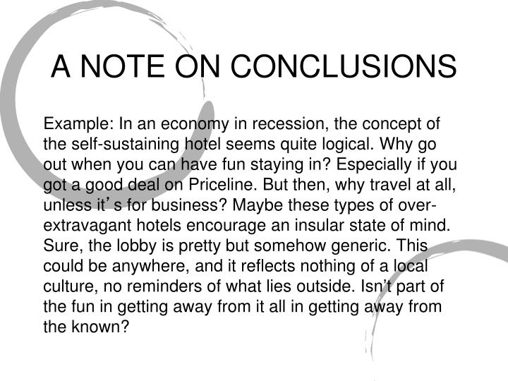 A NOTE ON CONCLUSIONS