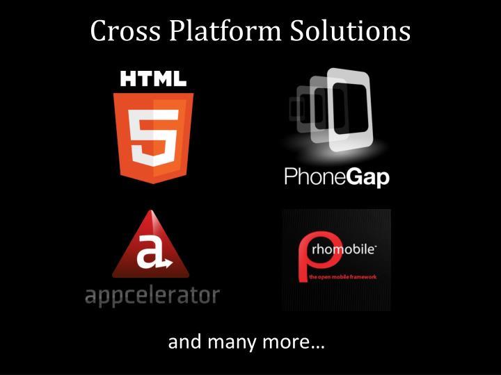 Cross Platform Solutions