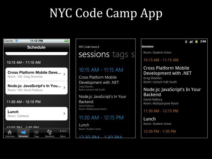 NYC Code Camp App
