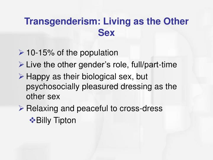 Transgenderism: Living as the Other Sex