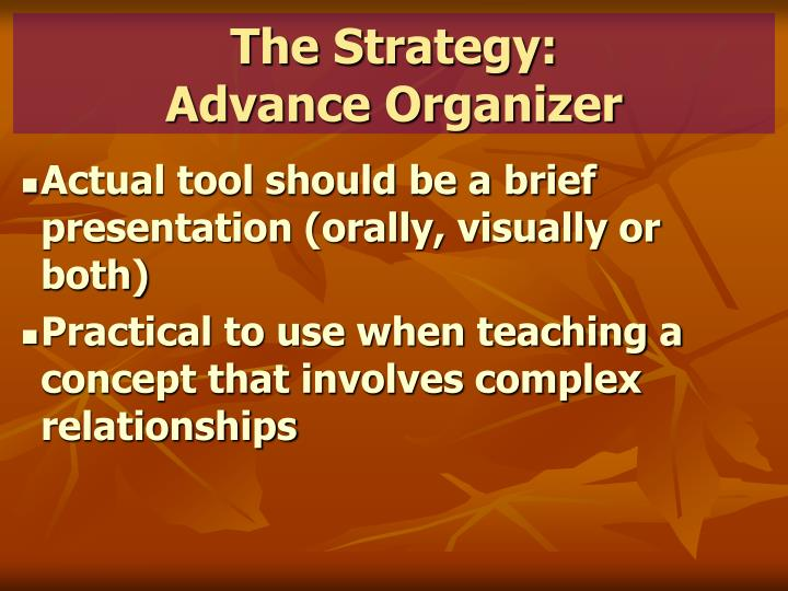 The Strategy: