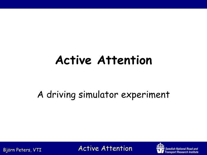 active attention n.