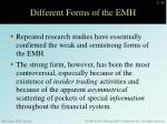 different forms of the emh1