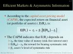 efficient markets asymmetric information3