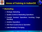 areas of training in indianoil3
