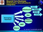 beyond core business globalization diversification integration