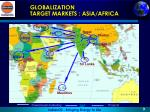 globalization target markets asia africa