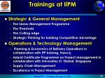 trainings at iipm