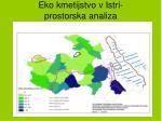 eko kmetijstvo v istri prostorska analiza