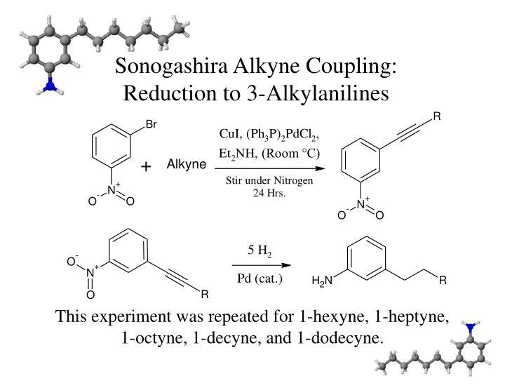 Sonogashira Alkyne Coupling: