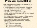 processor speed rating