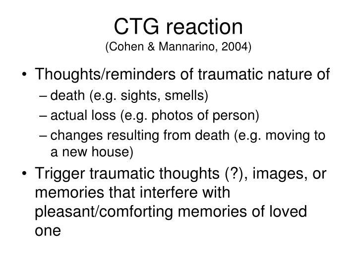 CTG reaction