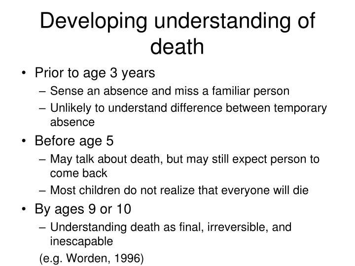 Developing understanding of death