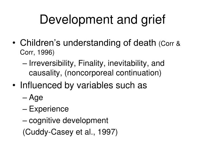 Development and grief