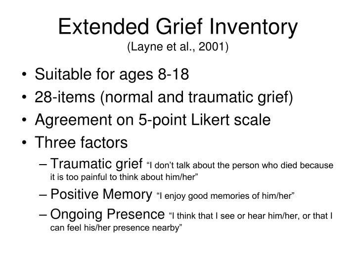 Extended Grief Inventory