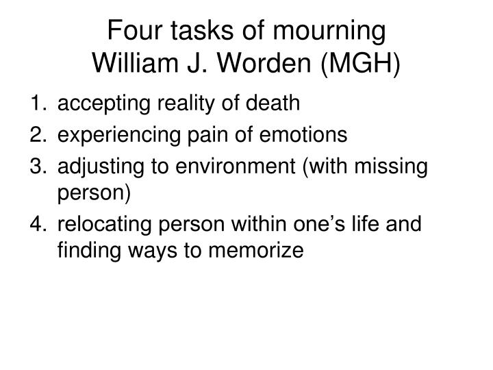 Four tasks of mourning