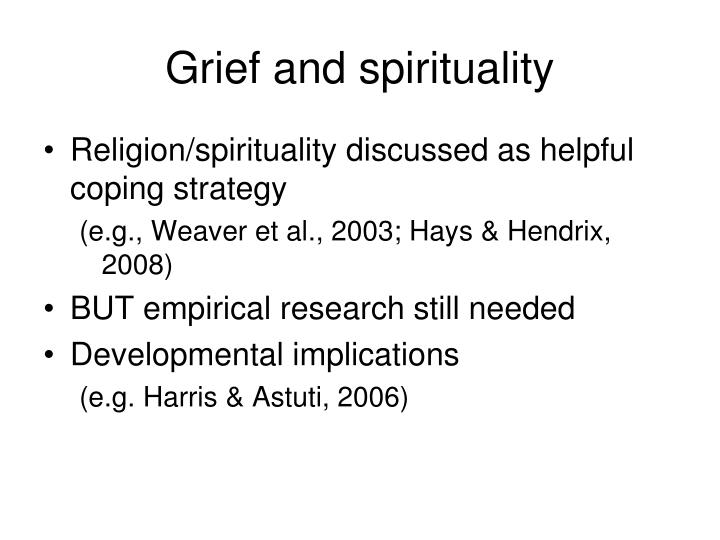 Grief and spirituality