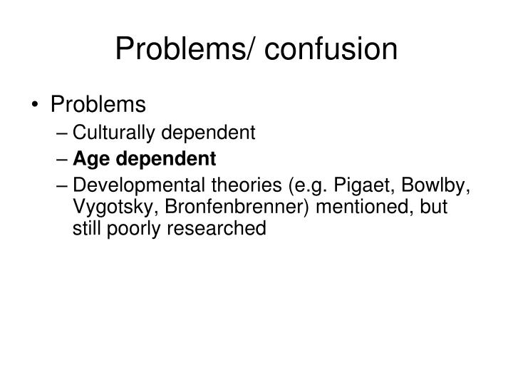 Problems/ confusion