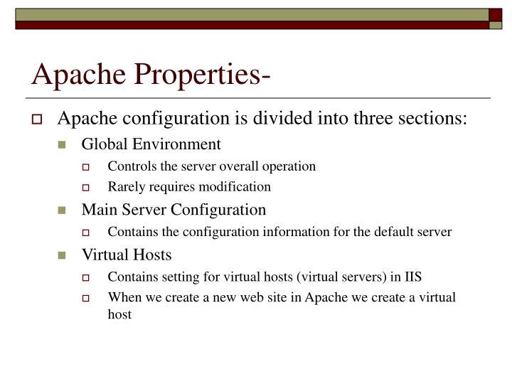 Apache Properties-