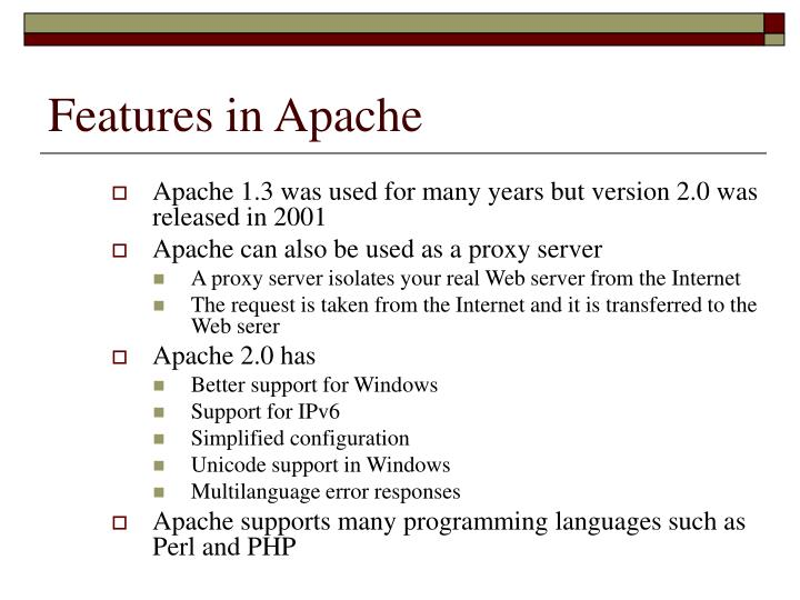 Features in Apache