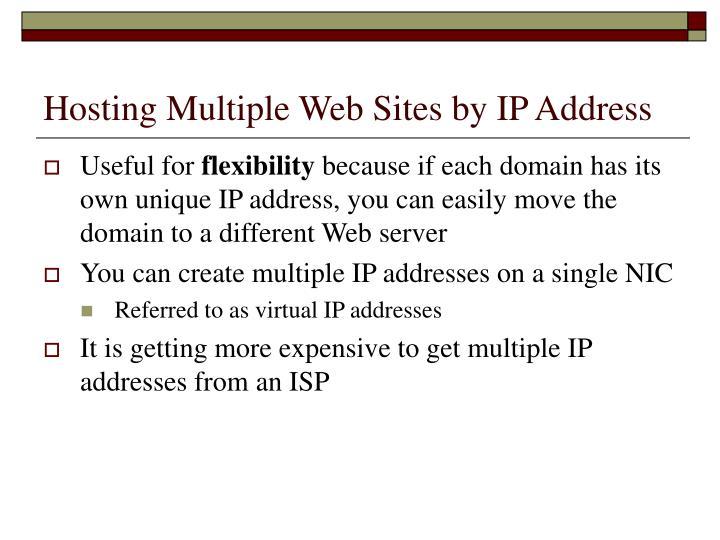 Hosting Multiple Web Sites by IP Address