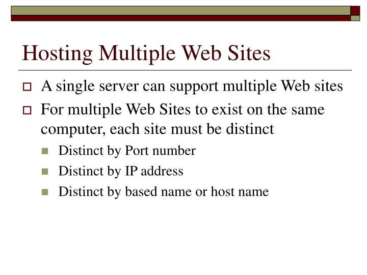 Hosting Multiple Web Sites