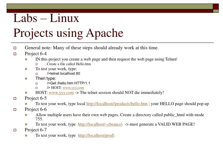 Labs – Linux