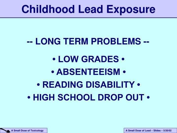 Childhood Lead Exposure
