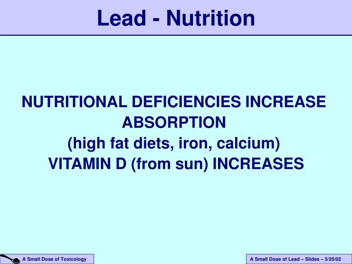 Lead - Nutrition