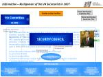 information realignment of the un secretariat in 2007