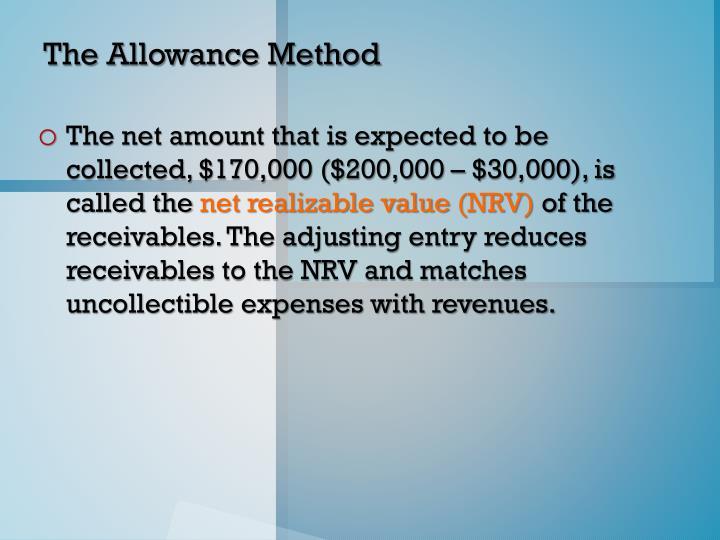 The Allowance Method