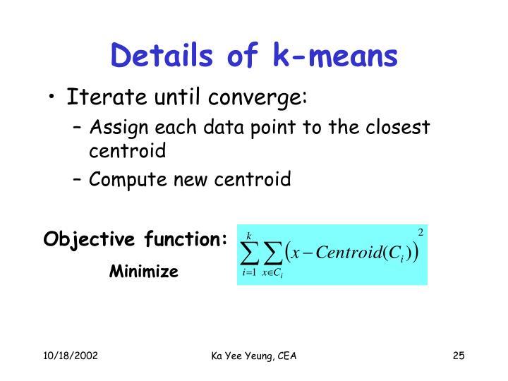 Details of k-means