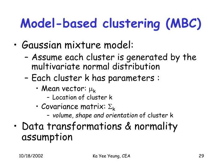 Model-based clustering (MBC)