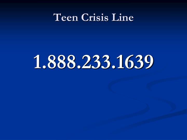 Teen Crisis Line