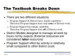 the textbook breaks down